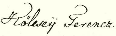 Kölcsey aláírása
