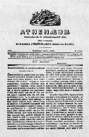Az Athenaeum c. folyóirat