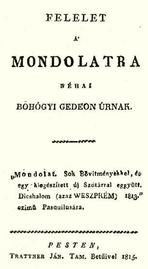 A Felelet a Mondolatra címlapja