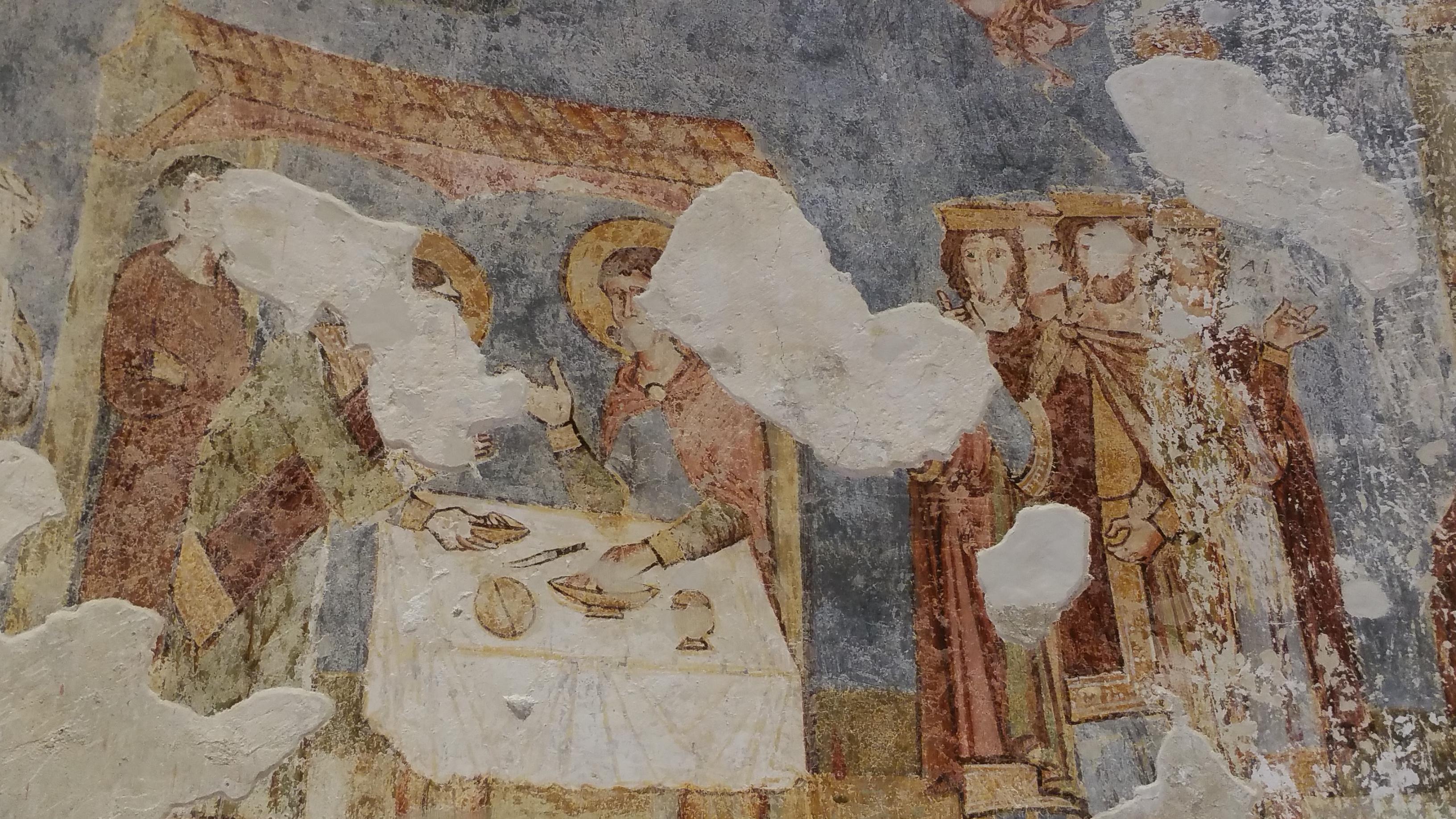 Az egyik rekonstruált freskó