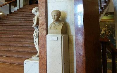 Budapest, I. Szent György tér 2., Budavári Palota, Magyar Nemzeti Galéria (Ferenczy István, 1846, krassói fehér márvány)