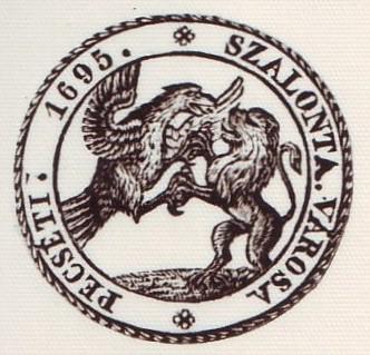 A bélyegzőn az osztrák sassal küzdő Bocskai-féle oroszlán látható