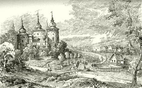 Az erdődi várkastély az 1850-es években