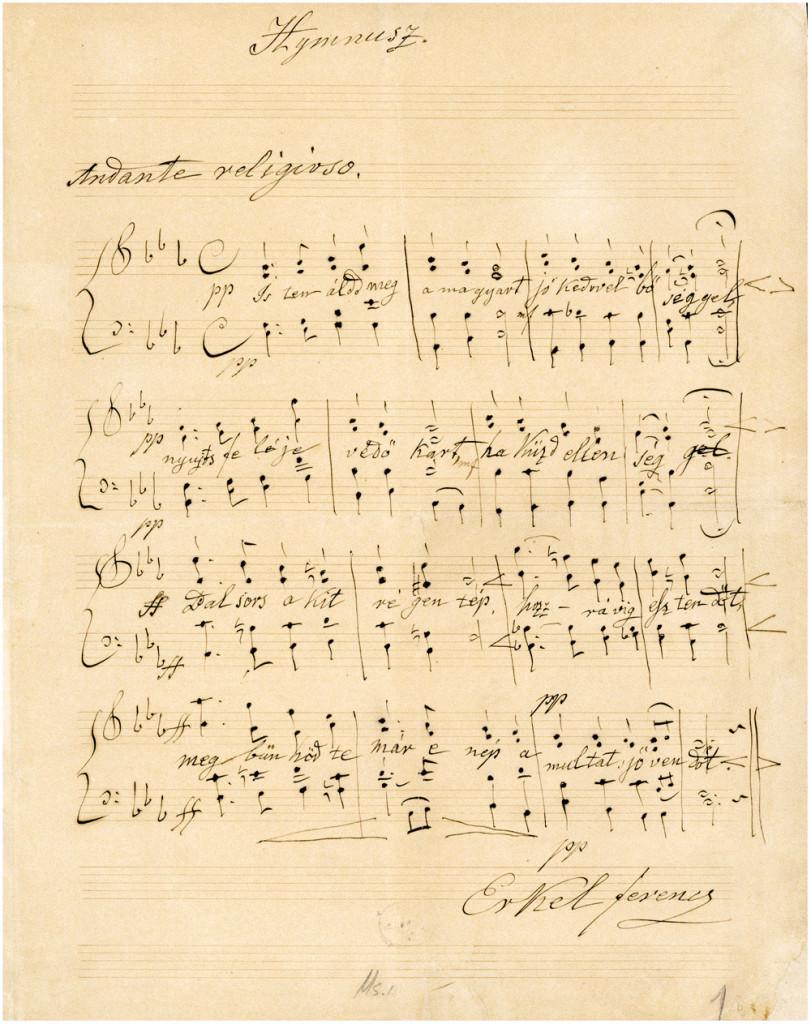 Himnusz kottája