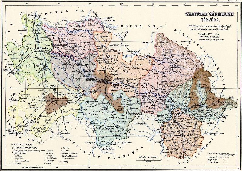 Szatmár vármegye térképe