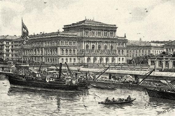 A Magyar Tudományos Akadémia épülete, amelyet 1865-ben adtak át