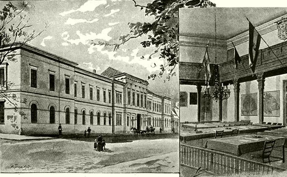 A nagykárolyi vármegyeháza és ülésterme
