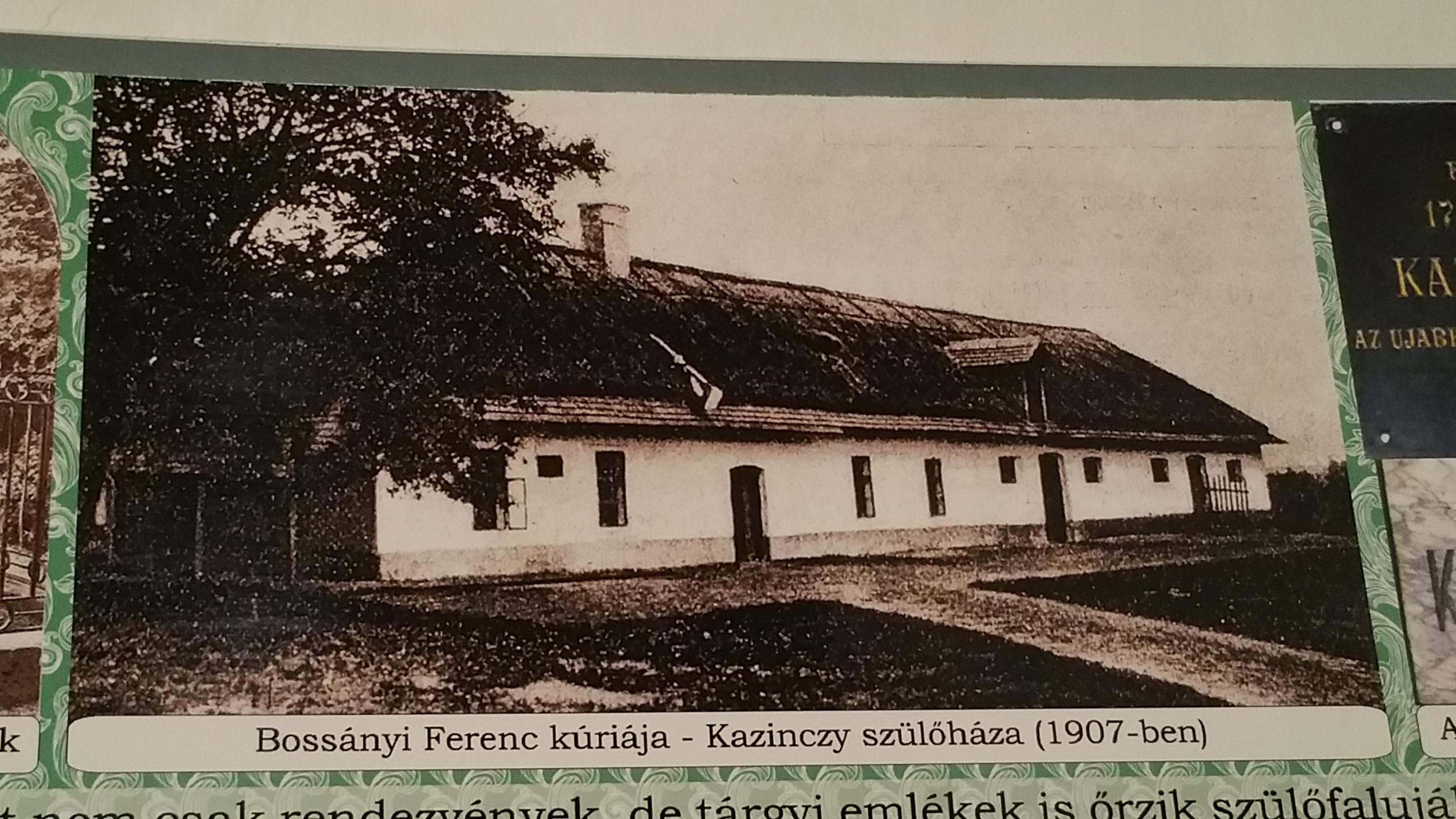 A szülőház egy 1907-ből származó felvételen