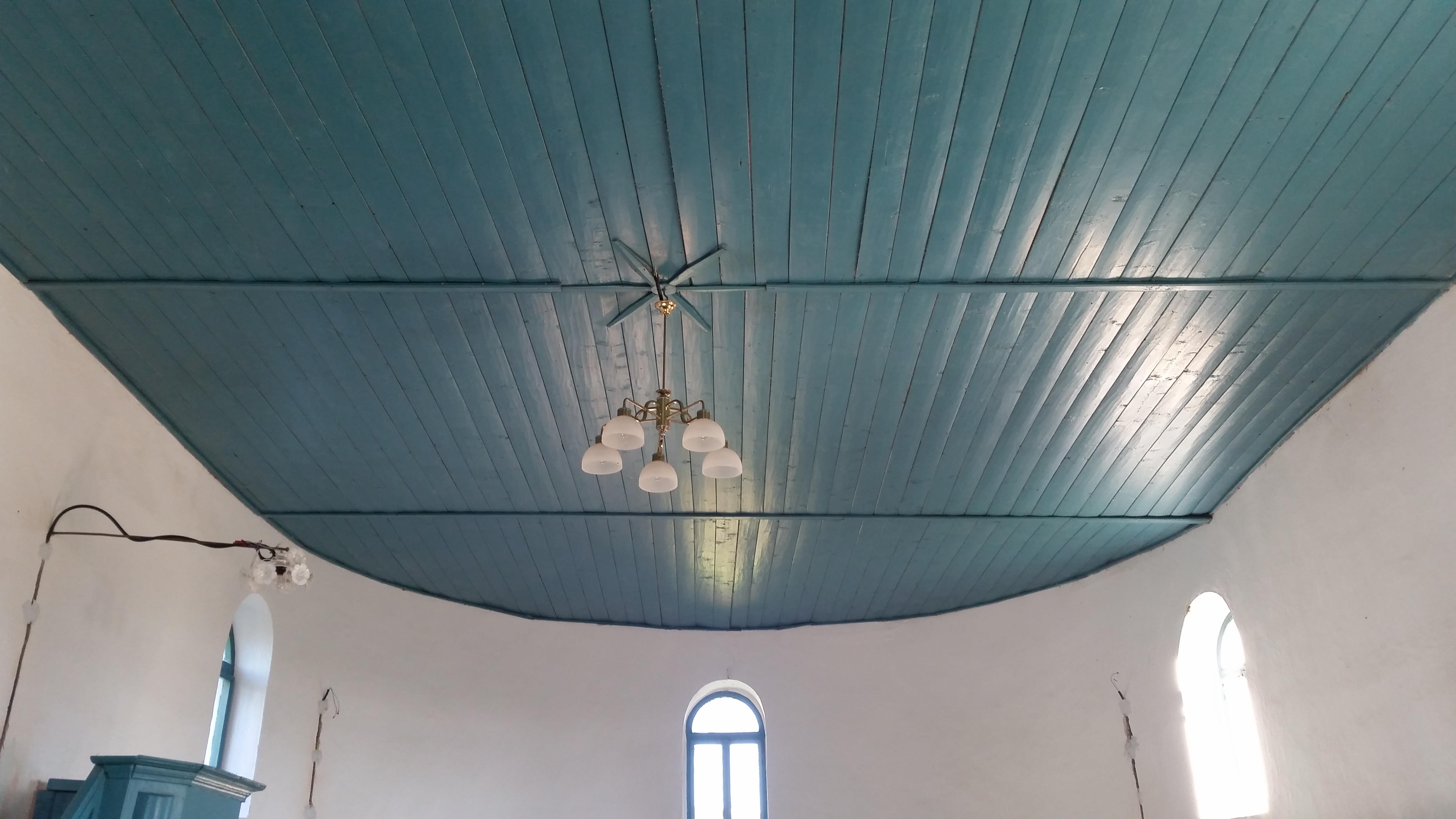 A templom mennyezete