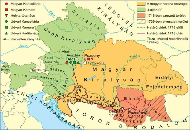 A Habsburg birodalom a XVIII. században