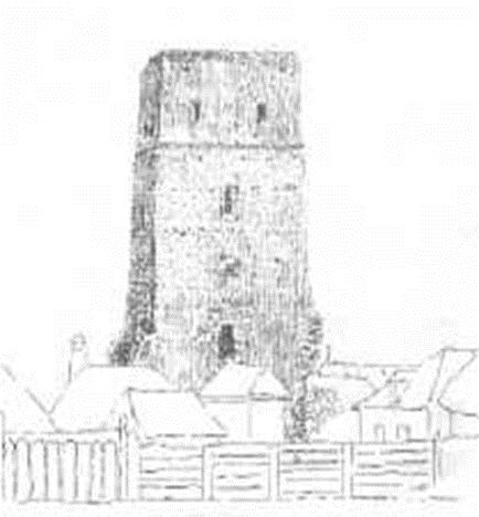Petőfi 1847-ben készült rajza a toronyról