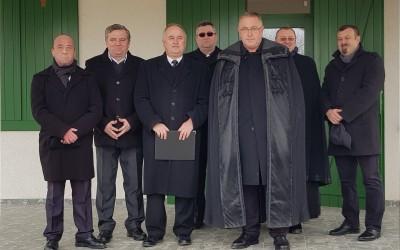 Forró László főjegyző és a meghívott egyházi és világi vezetők