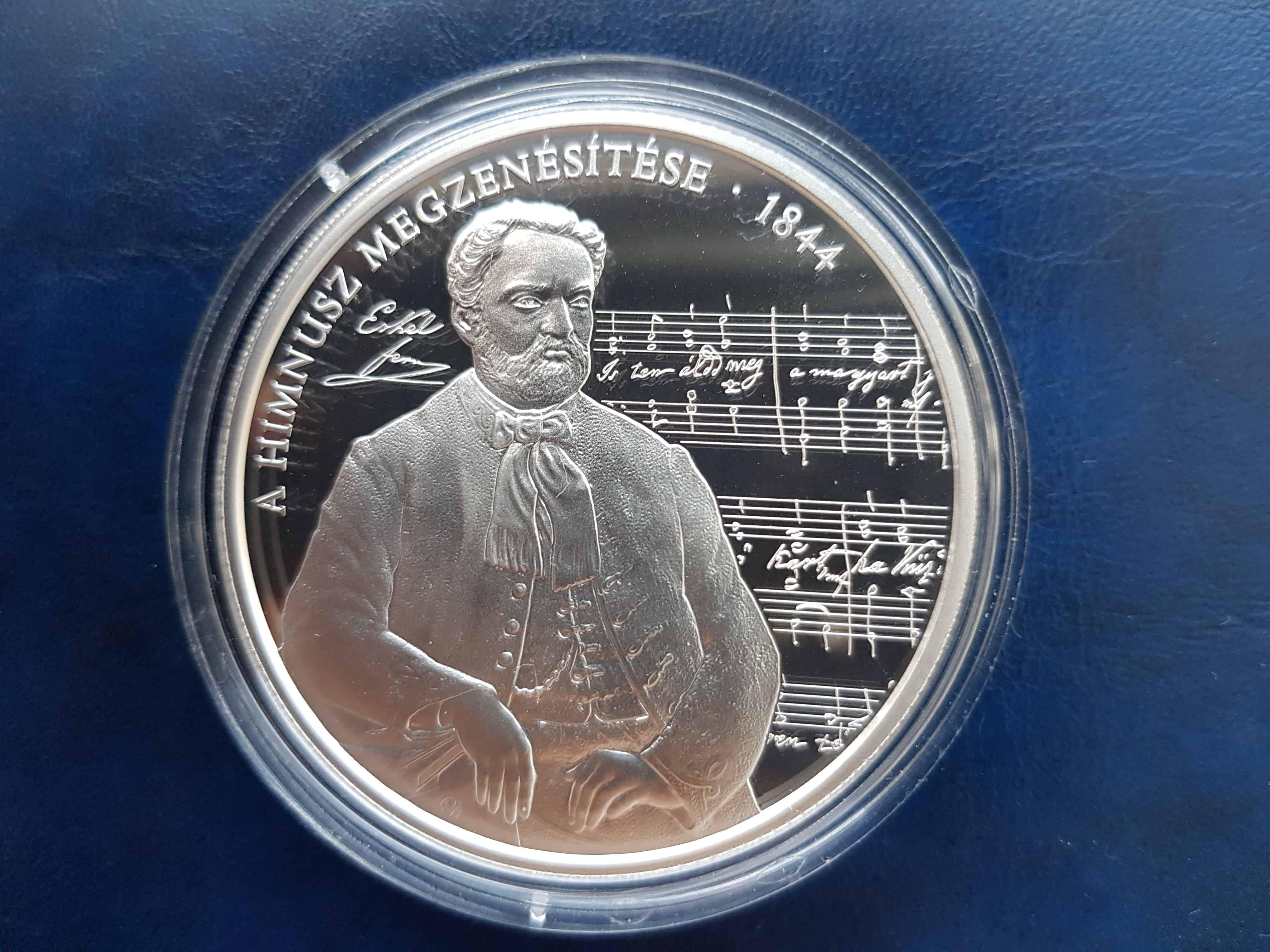175 éves a Himusz zenéje - az emlékérme hátlapja